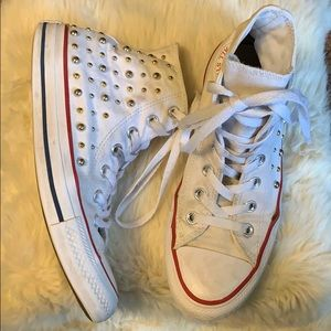 Studded Converse high tops size 7